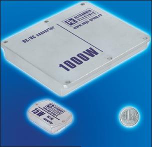 Рис. 5. Модули электропитания линии Мираж-В. Номинальная мощность 5–1000 Вт, диапазон температур –60…+85 °С