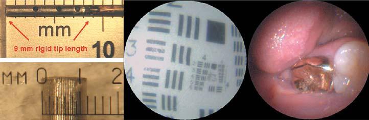 Рис. 8. Размеры сканера, тестовое изображение и цветное реальное изображение, полученное с помощью сканера