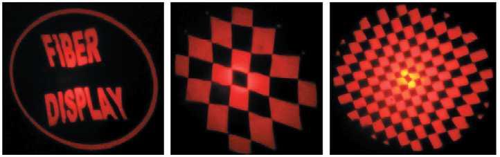 Рис. 9. Тестовые изображения, полученные микропроектором