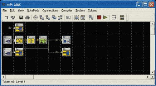 HDL Design Studio. Схема метасистемы после добавления пользовательских элементов TVIN и TVOUT