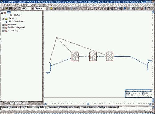 HDL Design Studio. Диалоговое окно Expressive HDL Design Management