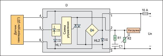Структурная схема термостатического реле