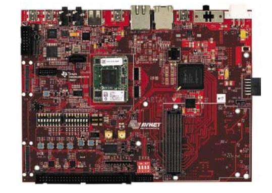 Внешний вид  модуля Avnet Spartan-6/OMAP Co-Processing Development Board