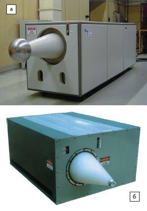 Рис. 11. Наносекундные генераторы на основе SOS-диодов а)напряжение 1 МВ, ток 1 кА, длительность 30 нс, частота 300 Гц; б)напряжение 400 кВ, ток 1,5 кА, длительность 30 нс, частота 300 Гц