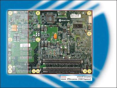 Сравнение модулей ETXexpress/COM Express и microETXexpress/Compact COM Express по габаритам