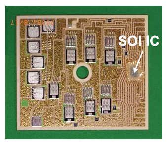 Рис. 19. DBC-подложка модуля IPM MiniSKiiP (600 В, 50 A) с интегрированным SOI-драйвером