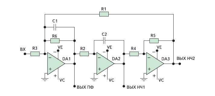 Рис. 5. Схема универсального звена второго порядка
