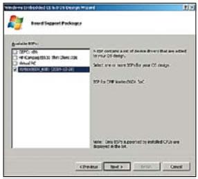 Создание образа Windows CE 6.0. Выбор BSP