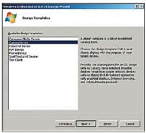 Создание образа Windows CE 6.0. Выбор шаблона образа