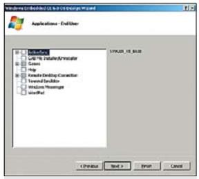 Создание образа Windows CE 6.0. Выбор компонентов образа