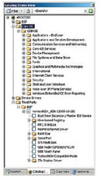 Выбор компонентов образа через окно Catalog Items View