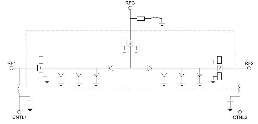 Функциональная схема микросхемы HMC975