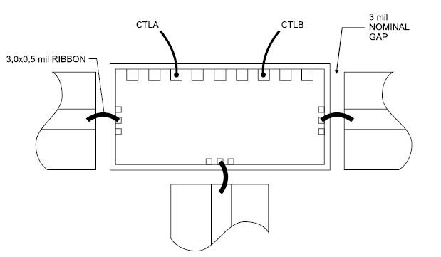 Подключение микросхемы к отрезкам линий передачи и источникам управляющих сигналов