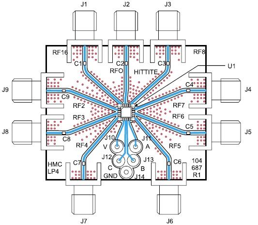 Печатная микроплата с коммутатором HP321