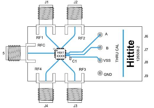 Монтаж микросхемы коммутатора HMC641 на печатной плате