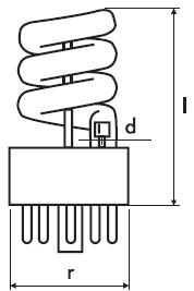 Рис. 17. Лампа серии DW 3670 (5 млн срабатываний)