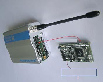 Рис. 15. Устройство пользователя, состоящего из GSM модема и PLC модема