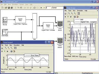 Пример применения виртуальных осциллографов Time Scope