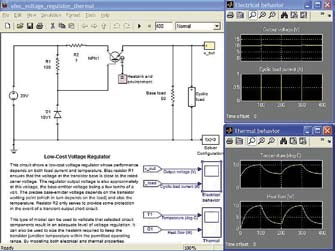 Диаграмма модели линейного стабилизатора напряжения