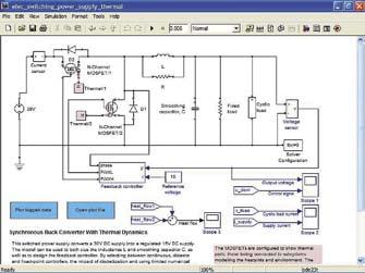 Диаграмма модели синхронного обратного преобразователя