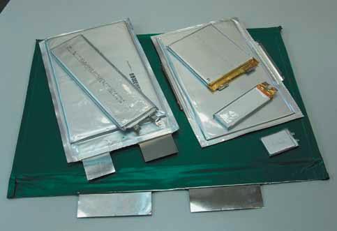 Аккумуляторы в корпусе из ламинированной фольги