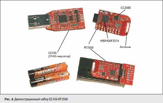 Демонстрационный набор EZ430-RF2500
