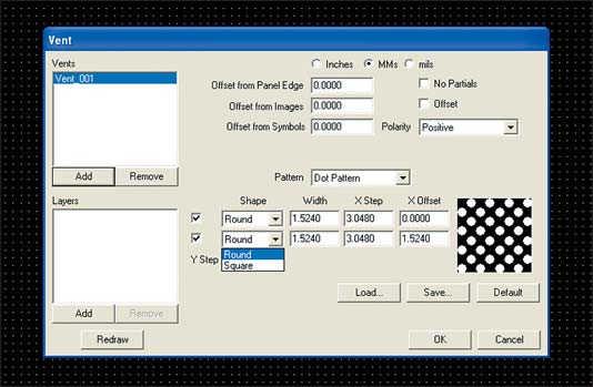 Рис. 11. Интерфейс CAM-системы для выбора параметров заливки