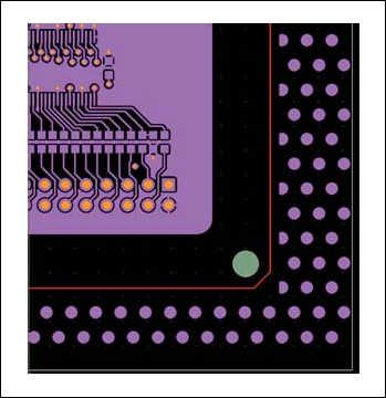 Рис. 8. Пример заполнения медью технологических полей печатной платы