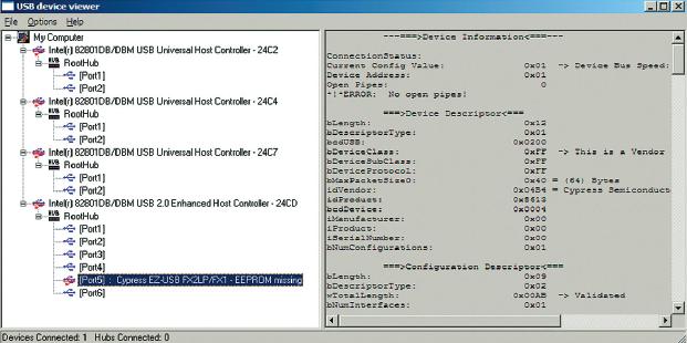 Рис. 3. Окно программы USBView