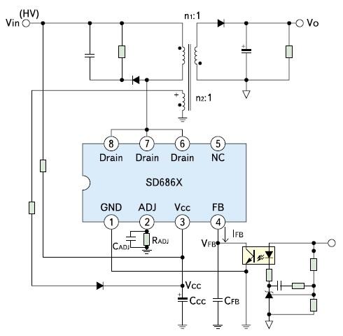 Схема включения SD686x