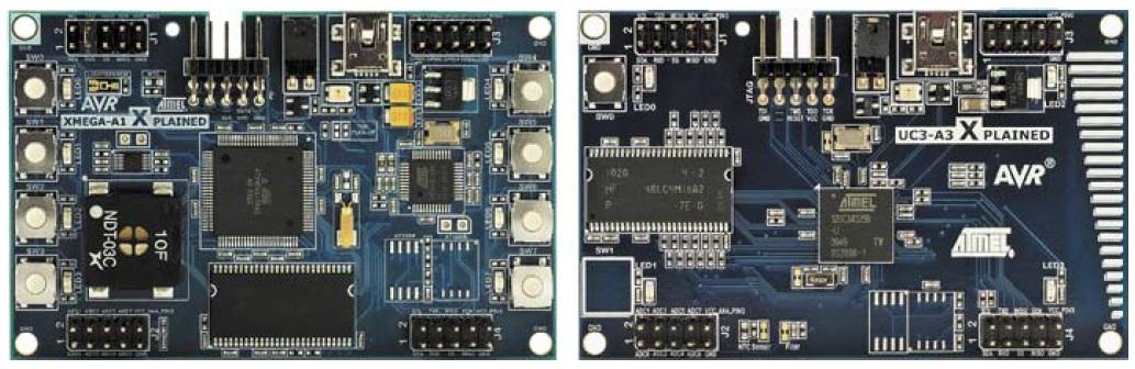 Оценочные наборы Xplained для ATXmega128A1 и AT32UC3A3
