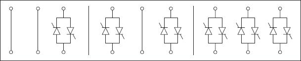 Возможные конфигурации силовой части плавного пускателя