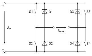 Схема мостовой преобразовательной ячейки