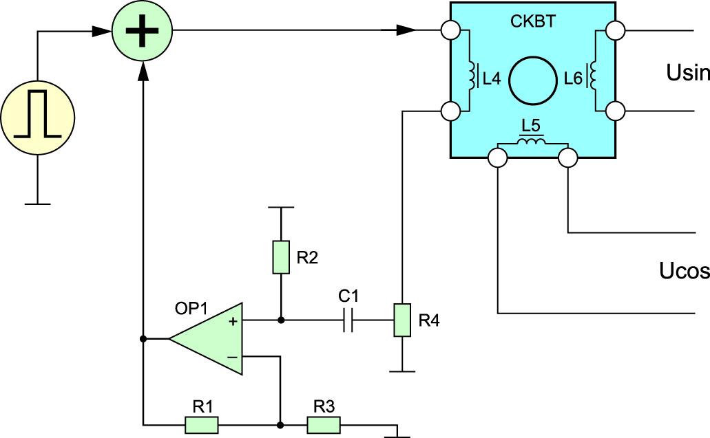 Функциональная схема формирования данных СКВТ с возбуждением от гиратора