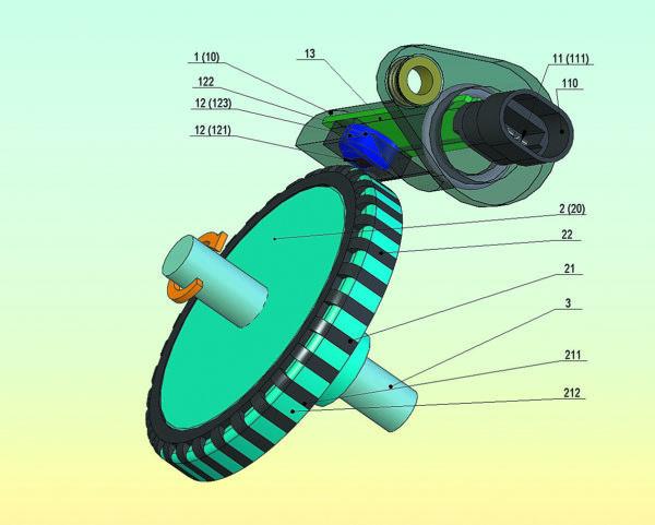 Ключевой пример автомобильных датчиков магнитного поля на основе эффекта Холла: датчик скорости автомобиля (датчик ферромагнитного зубчатого ротора выходного вала коробки передач)