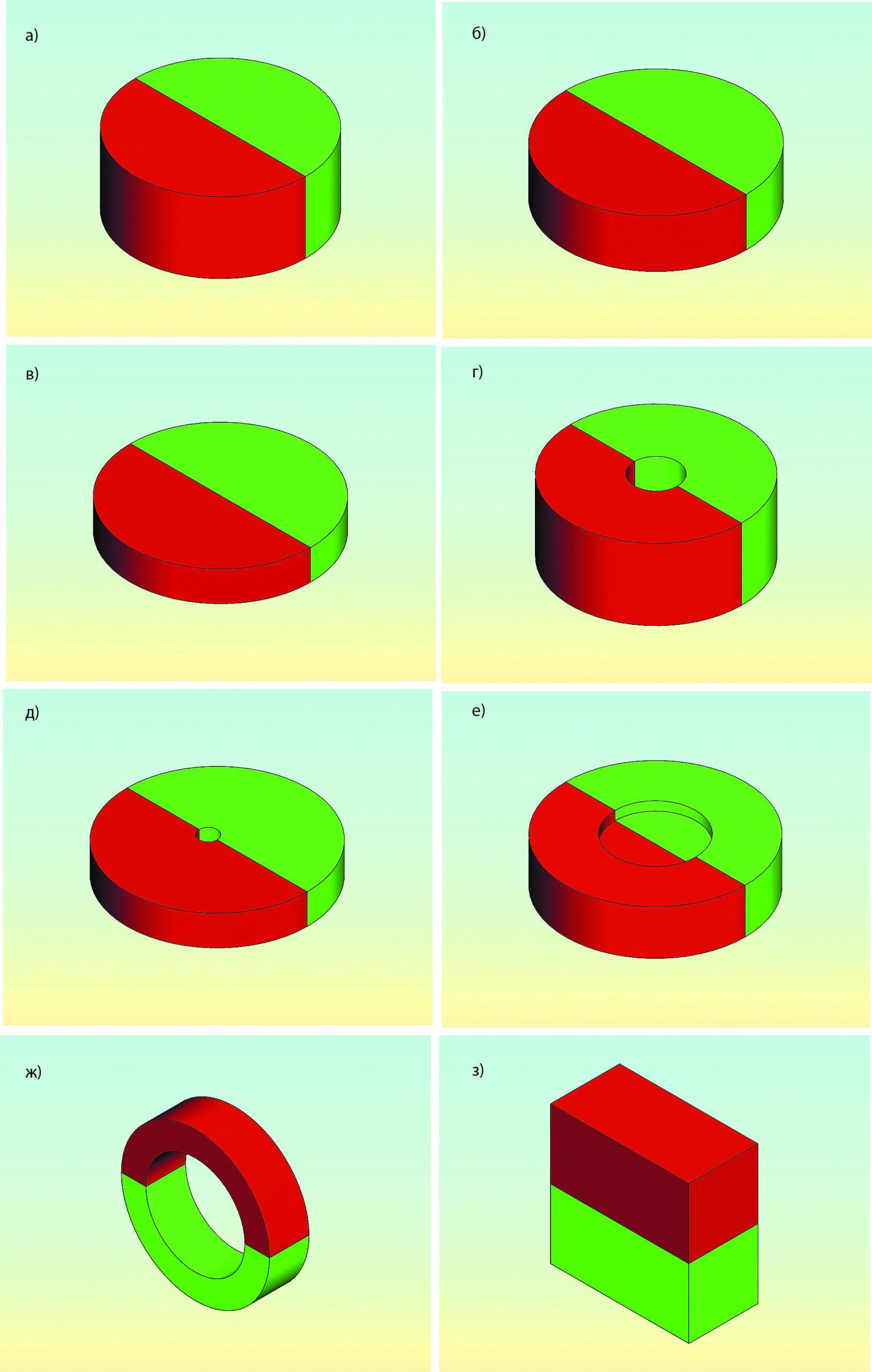 Датчик положения дроссельной заслонки (датчик абсолютного углового положения дипольного диаметрально намагниченного магнита) с магнитами специальной формы