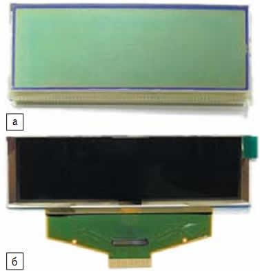 Дисплеи: а)монохромный LCD PC2004LRS-GSC-H; б)цветной OLED UG-5664ASWEF01