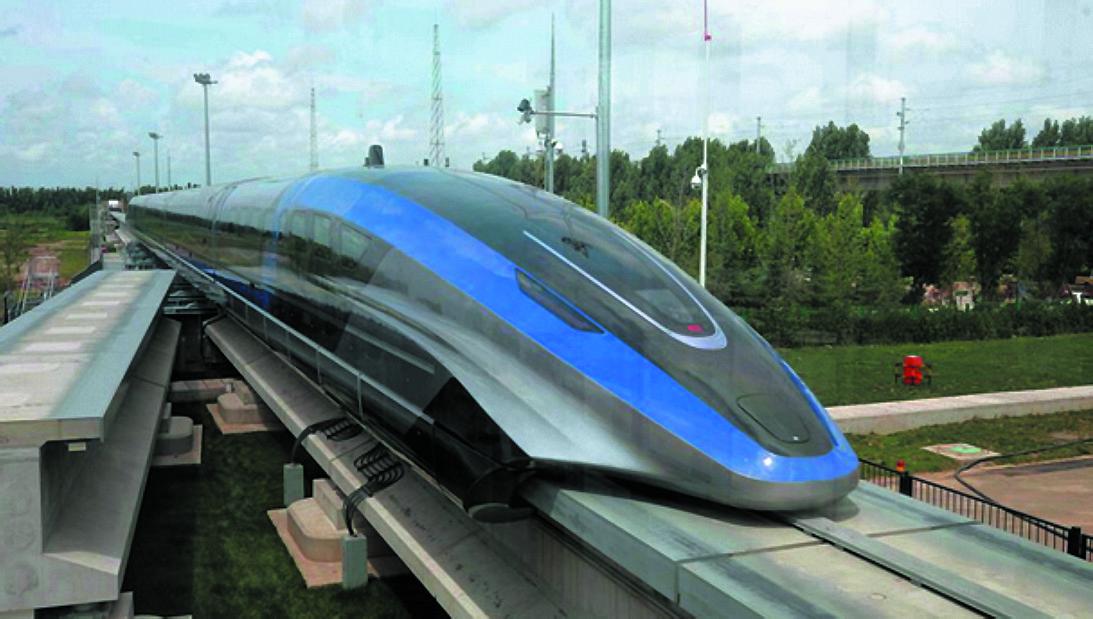 Скоростной поезд на магнитной подушке