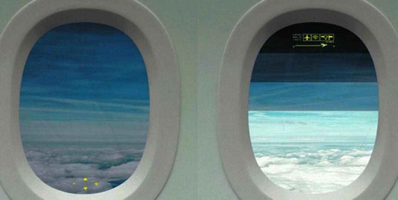 Управление затемнением в иллюминаторах салона авиалайнера