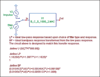 Результат синтеза активного фильтра в виде макромодели
