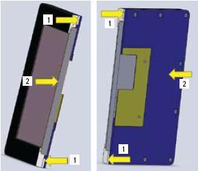 Конструкция монитора в поперечном разрезе