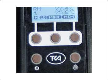 Рис. 3. Расположение функциональных клавишей на лицевой панели прибора