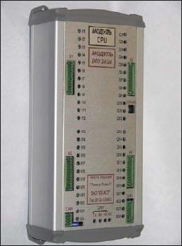 Внешний вид модуля CPU/DIO 24/24