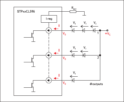 Базовая конфигурация включения светодиодов