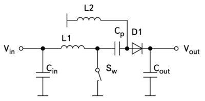 Схема преобразователя SEPIC