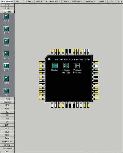 Общий вид окна Visual Device Initializer
