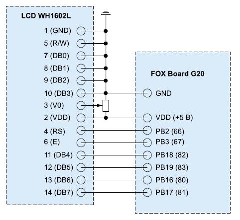 Схема подключения ЖКИ