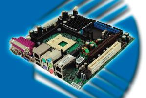 Рис. 1. Встраиваемая материнская плата Kontron 886LCD-M/mITX, выполненная в конструктиве Mini-ITX