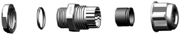 Конструкция типового гермоввода цангового типа