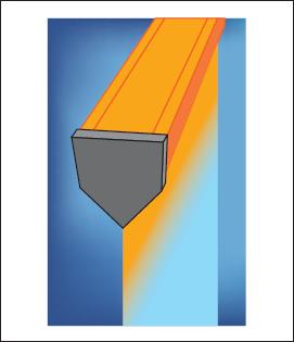 Схема процесса непрерывного литья стеклянного листа